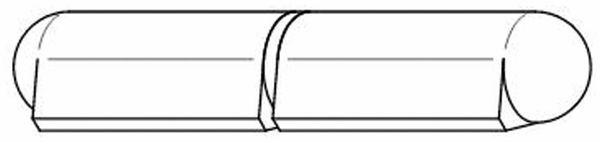 Bandrolle, Anschweißscharnier, 120x16 mm, 2-teilig, Stahl - Produktbild 3