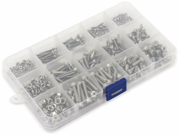 Sort. Schrauben-/Muttern, Innensechskant, 480 Stück - Produktbild 2