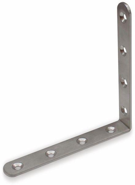 Winkelverbinder, Edelstahl, 125x125x19 mm