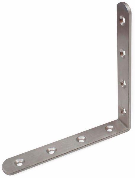 Winkelverbinder, Edelstahl, 150x150x25 mm