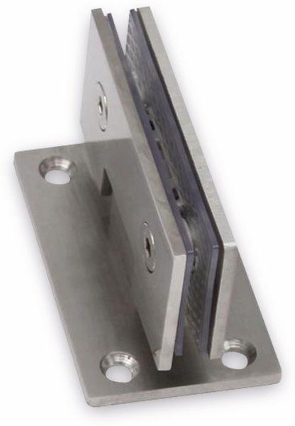 Edelstahl Glastürscharnier, Wand/Glas mittig - Produktbild 2