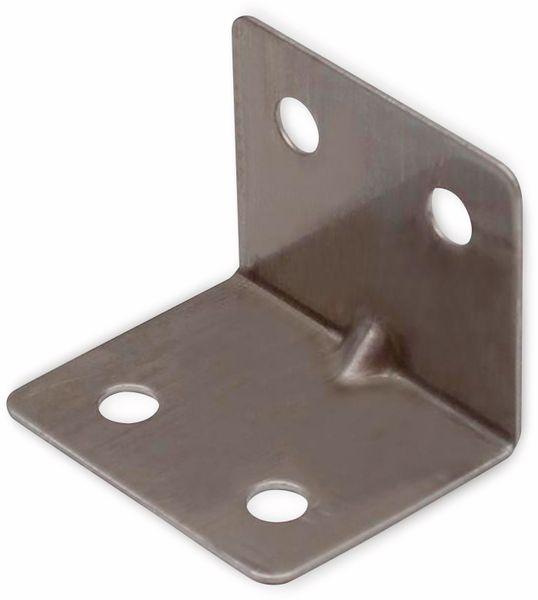 Winkelverbinder, Edelstahl, 28x28x35 mm, 10 Stück