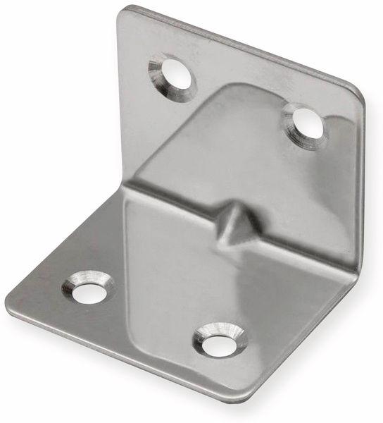 Winkelverbinder, Edelstahl, 32x32x38 mm, 10 Stück