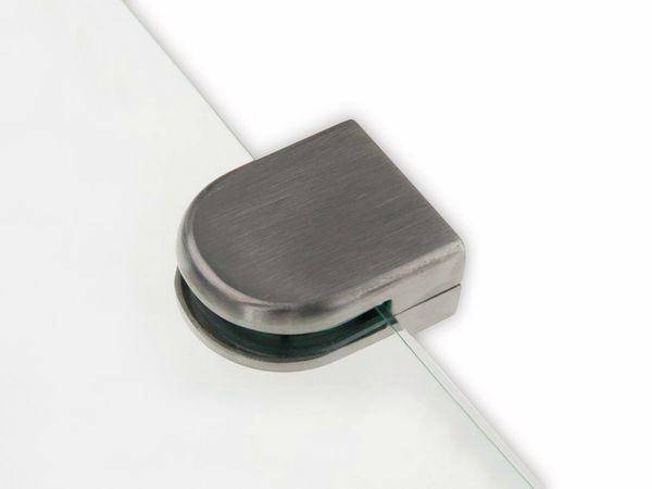 Glashalter, Edelstahl, 45x55 mm, 10-12 mm, flach - Produktbild 2