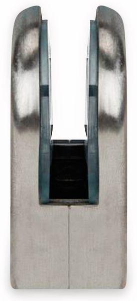 Glashalter, Edelstahl, 45x55 mm, 10-12 mm, flach - Produktbild 3