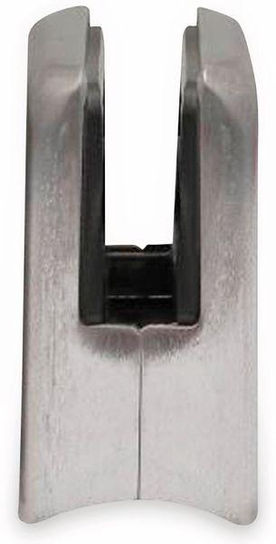 Glashalter, Edelstahl, 45x45 mm, 8 mm, Rohr - Produktbild 2