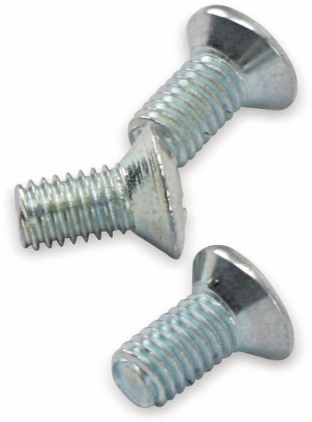Schraube, 3x6mm, Senk-/Linsenkopf, 50 Stück - Produktbild 2