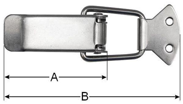 Spannverschluss, 45 mm, Edelstahl - Produktbild 2