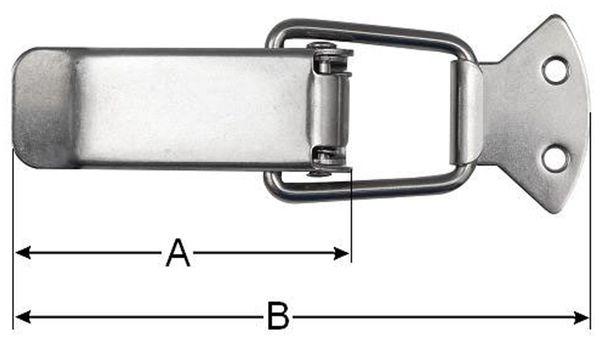 Spannverschluss, abschließbar, 45 mm, Edelstahl - Produktbild 2