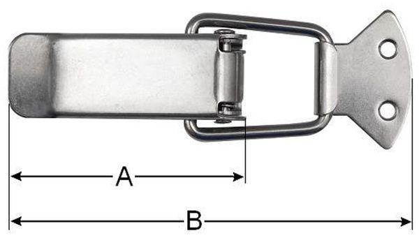 Spannverschluss, abschließbar, 65 mm, Edelstahl - Produktbild 2