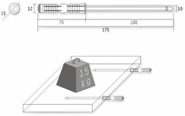 Regalbodenträger, Tablarträger, M10x100 mm - Produktbild 2