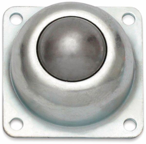 Kugelrolle, 77x77x50 mm, 90 kg, Stahl