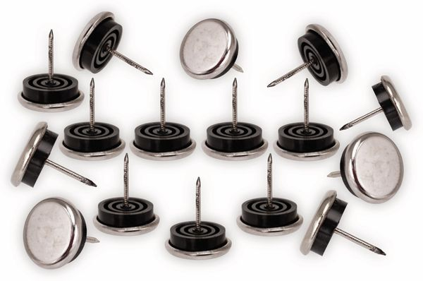Möbelgleiter Stahl, mit Zwischengummi Ø 20 mm, 16 St.