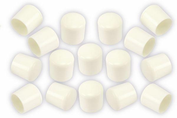 Stuhlgleiter 18 mm, 16 Stück, weiß
