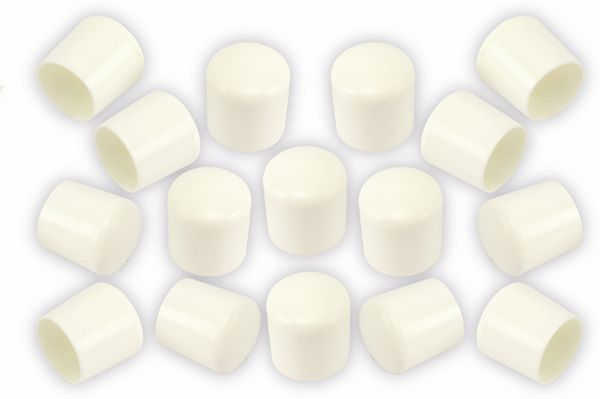 Stuhlgleiter 22 mm, 16 Stück, weiß