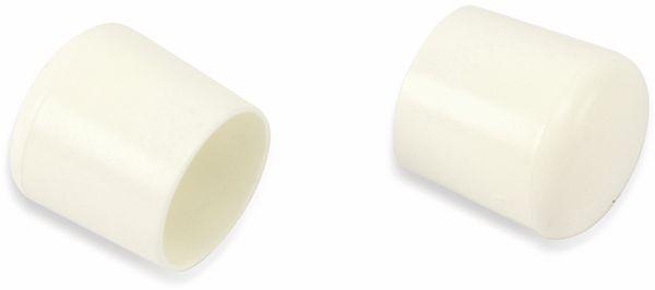 Stuhlgleiter 22 mm, 16 Stück, weiß - Produktbild 2