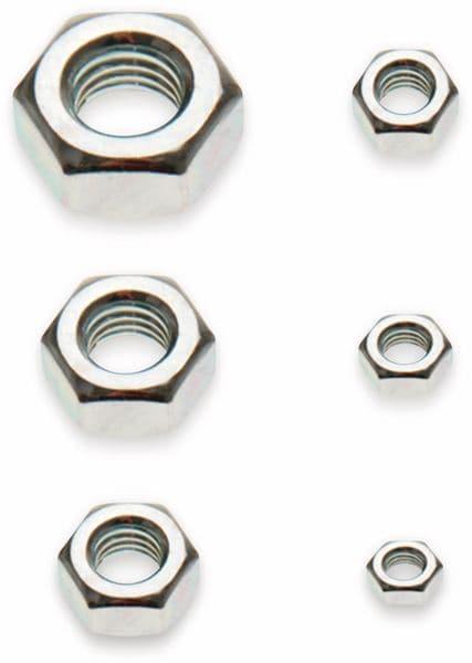 Muttern-Sortiment, M3...M10, 150-tlg. (8068)