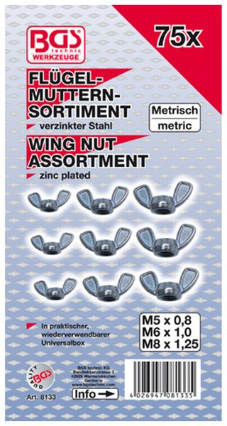 Flügelmuttern-Sortiment, 75-tlg.(8133) - Produktbild 2