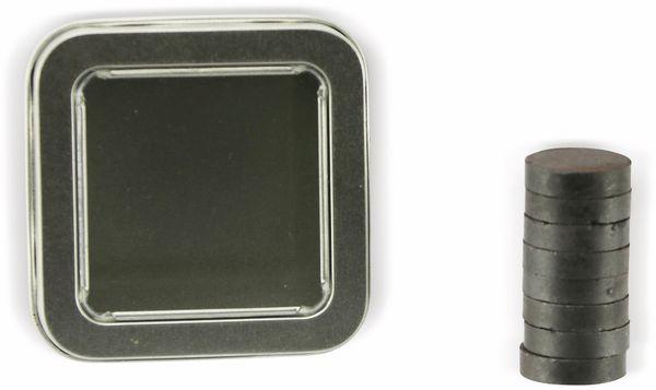 Ferritmagnete, 8 Stück, mit Aufbewahrungsbox