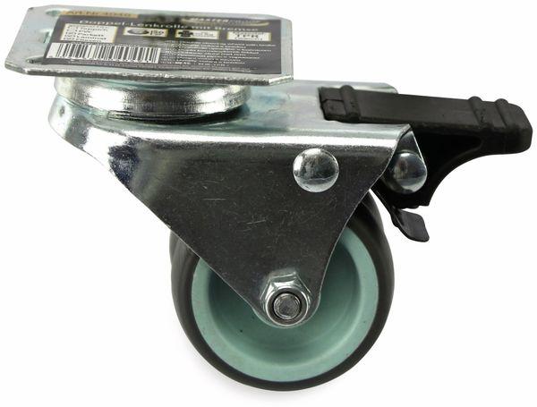 Doppellenkrolle Kugelgelagert MASTERPROOF 4049, Ø 50 mm, gebremst