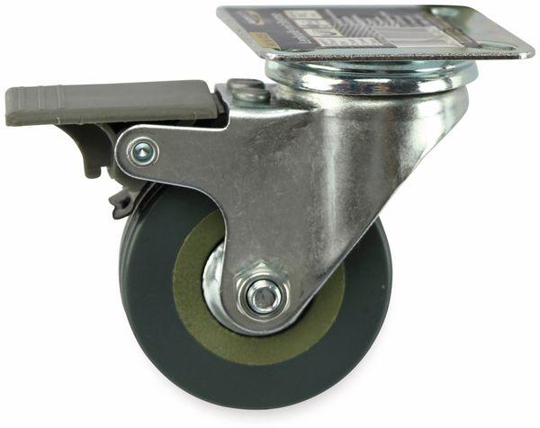 Lenkrolle Kugelgelagert MASTERPROOF 4055, PVC, Ø 50 mm, gebremst