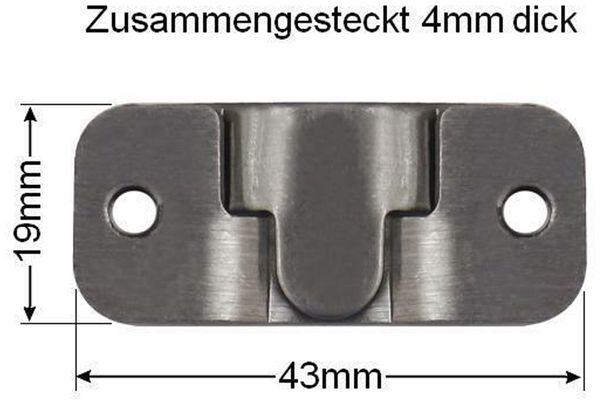 Möbelverbinder-Set Edelstahl - Produktbild 3