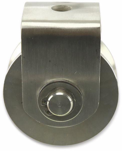 Laufrolle, Ø68 mm, V-Nut
