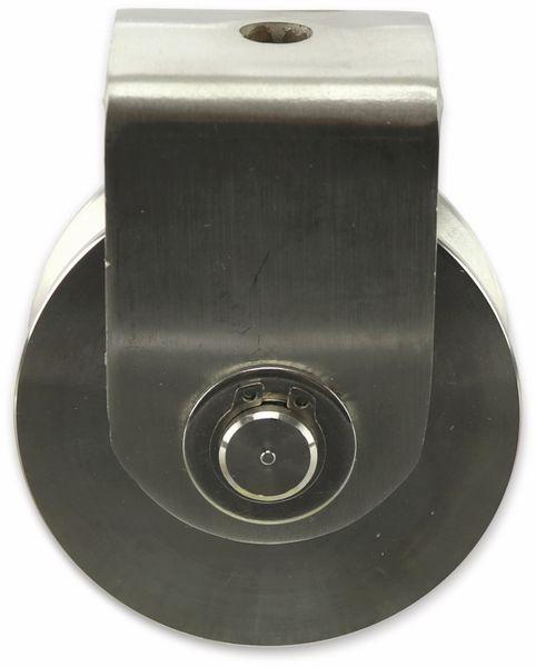 Laufrolle, Ø78 mm, V-Nut