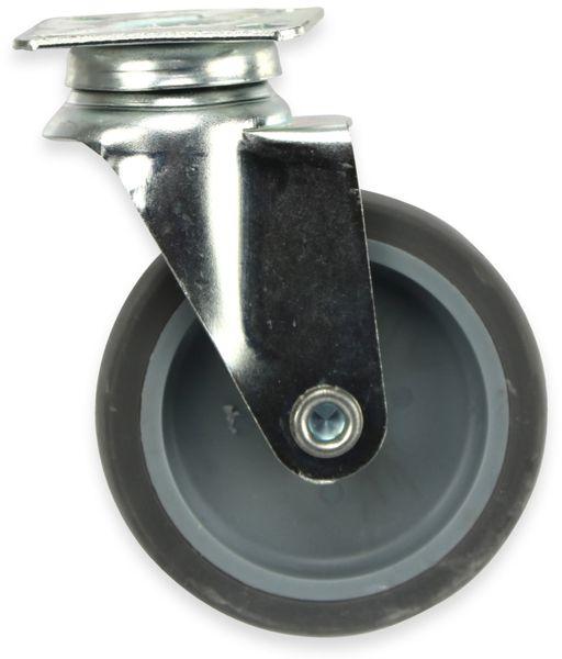 Lenk-Laufrolle, grau, Ø75 mm