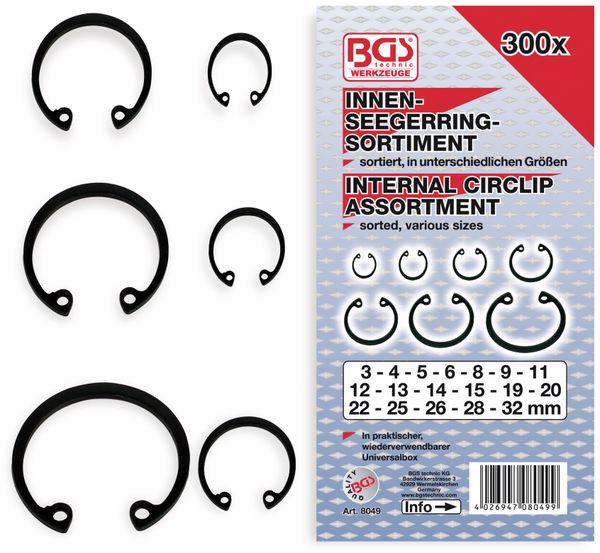Innen-Seegering-Set, BGS, 8049, Ø3...32mm, 300-tlg
