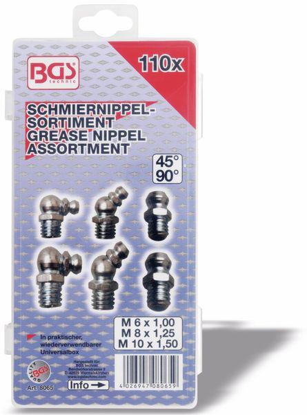 Schmiernippel-Set, BGS, 8065, 110-teilig - Produktbild 3