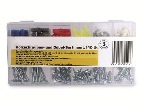 Holzschrauben & Dübel-Set, AS6180-002, 140-tlg