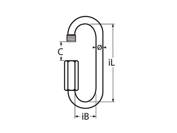 Schraubverbinder Edelstahl A4 lange Form, 6x72mm - Produktbild 2