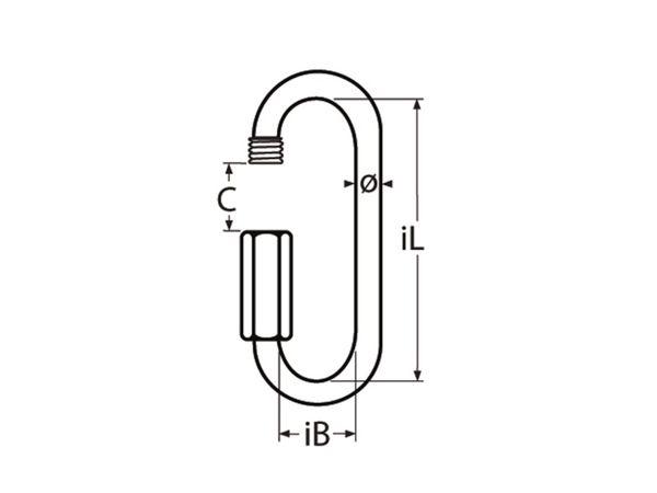 Schraubverbinder Edelstahl A4 lange Form, 8x88mm - Produktbild 2