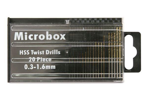 Miniaturbohrer-Set, 0,3...1,6 mm, 20 Bohrer