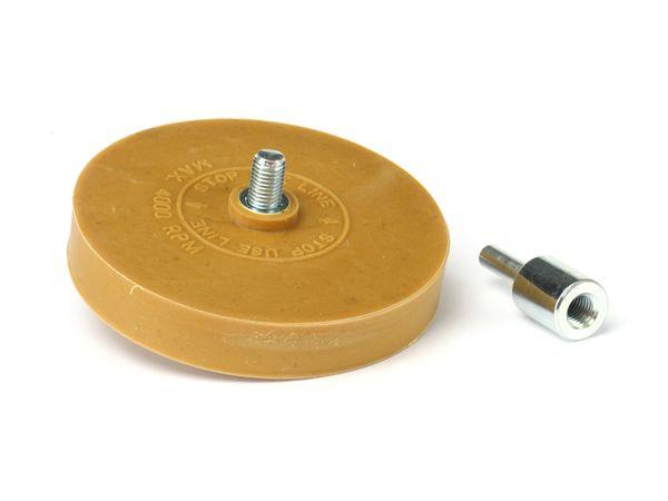 Bohrmaschinen-Radierscheibe mit Adapter, Ø 90 mm