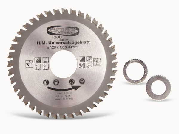 Universal-Sägeblatt, 160 mm, 40 Zähne
