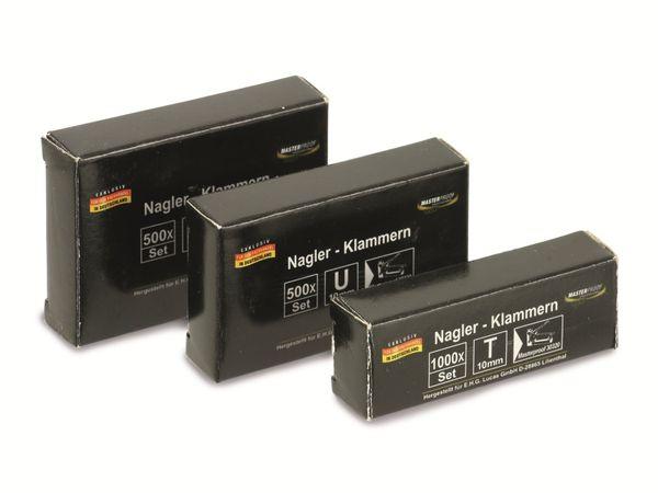 Naglerklammern-Set, 500/500/1000 Stück - Produktbild 1