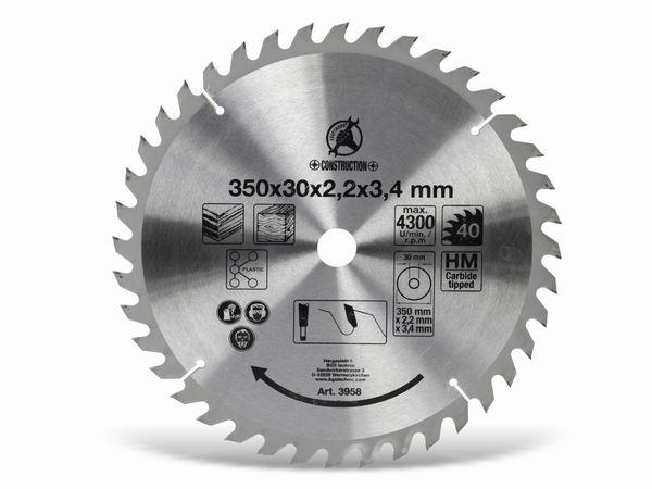 Hartmetall-Kreissägeblatt, 350 mm