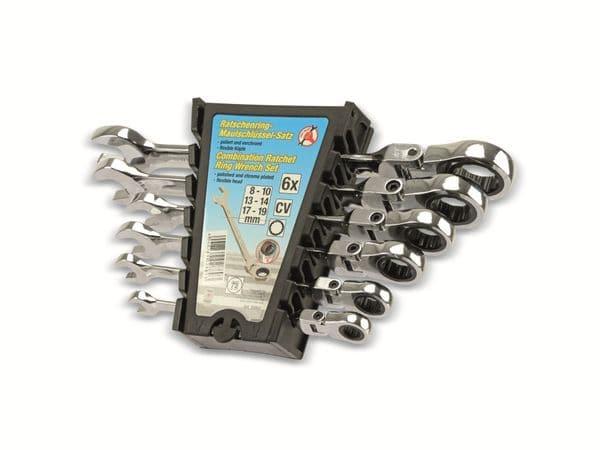 Gabel-Ratschenring-Schlüsselsatz KRAFTMANN 30004, 6-teilig, 8-19 mm - Produktbild 2