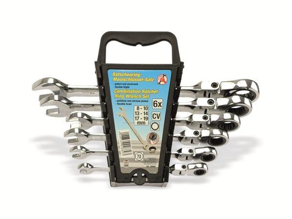 Gabel-Ratschenring-Schlüsselsatz KRAFTMANN 30004, 6-teilig, 8-19 mm - Produktbild 3