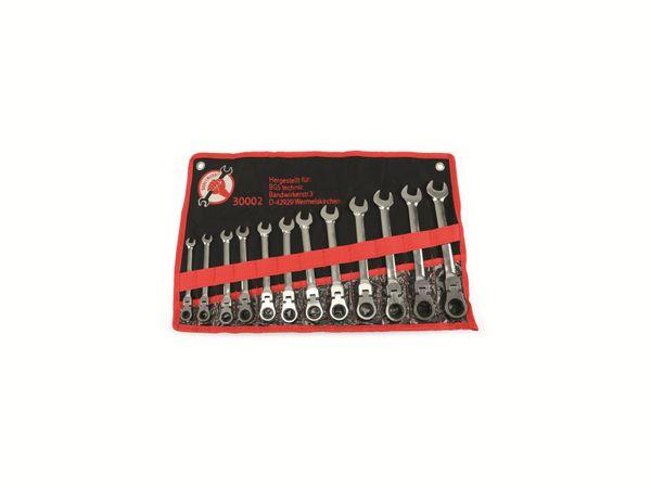 Gabel-Ratschenring-Schlüsselsatz, KRAFTMANN, 12-teilig, 8-19 mm - Produktbild 1