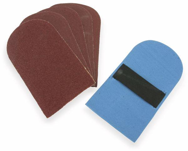 Schleifpapier-Set mit Schleifteller, 6 teilig - Produktbild 1