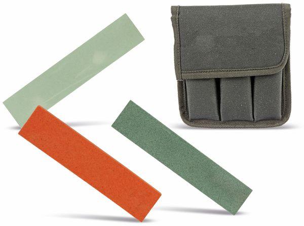 Schleifsteinset, 3-teilig inkl. Tasche