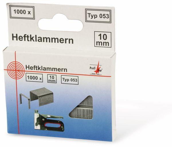 Tackerklammern, 10/10 mm, Typ 053, 1000 Stück - Produktbild 1
