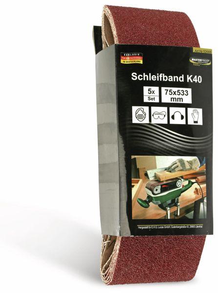 Schleifpapier für Bandschleifer, 5 Stück, K40 - Produktbild 2