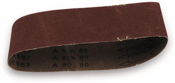 Schleifpapier für Bandschleifer, 5 Stück, K80 - Produktbild 1