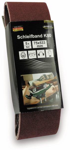 Schleifpapier für Bandschleifer, 5 Stück, K80 - Produktbild 2