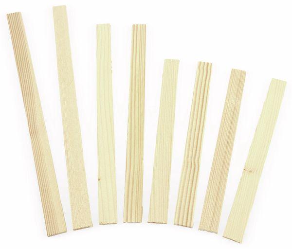 Farbrührstäbe-Set aus Holz, 8 Stück, 3 verschiedene Längen - Produktbild 1