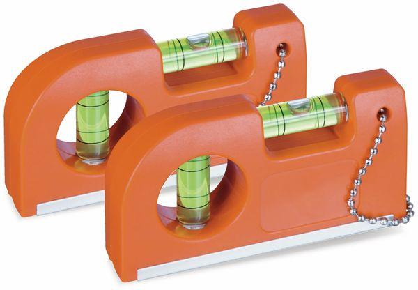 Wasserwaage mit Magnet und Clip, 2er Set